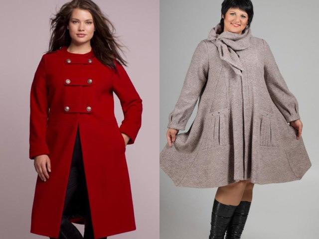 Пальто модные зима для полных